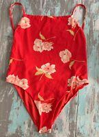 Large TengWeng Monokini Peach One Piece Women/'s Swimsuit  Bathing Suit New NIP