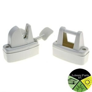 Lever Door Retainer Off White Suitable for Caravan and Lodges