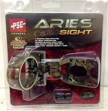 1084 New PSE Aries Three .029 Pin Camo Bow Sight w/ Light MOBUI