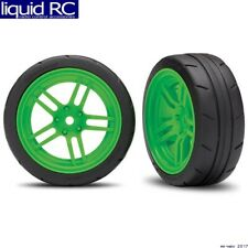 Traxxas 8373G Tires and Wheels - Assembled - Green 12mm Hex Wheels