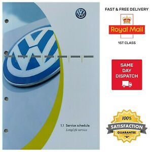 💯GENUINE NEW VW VOLKSWAGEN SERVICE HISTORY BOOK FOR ALL MODELS GOLF POLO TIGUAN