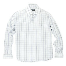 mens D & G shirt size L to XL 15.5 neck Comfort Fit, used - White Blue check