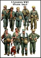 1:35 Scale Resin kit US marines Pacific WW2 9 Figures & Dog Resin Model Kit