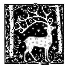 Crafty Individuals MAGICAL REINDEER Rubber Stamp CI-358