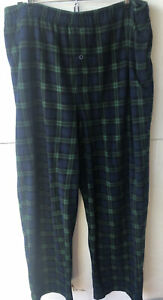 Mens Joe Boxer Green And Blue Plaid Lounge Pant Large
