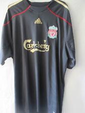 Liverpool 2008-2009 Away Football Shirt Size XL black sponsor wear/13685