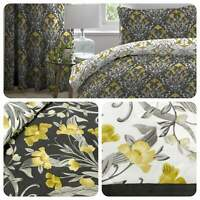 Dreams & Drapes VENITO Ochre Yellow Duvet Cover Set & Bedroom Accessories