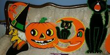 4 LARGE-BEISTLE~VINTAGE STYLE~NEW HALLOWEEN🎃 DIECUTS-WITCH-JOL-MOON-BLACK🐱CAT!