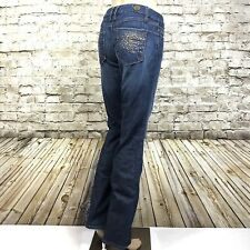 """Indie Women's Jeans Sz 26 Embellished Denim Low Rise Stretch Actual 29""""X32"""""""