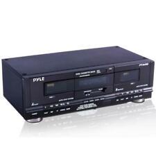 Pyle PT649D Dual Cassette Deck - Black