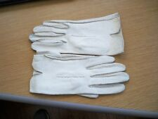 Living leather by Melloskin by Lady Gay, white, washable,deerskin. sz 61/2,