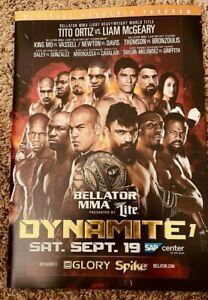 Tito Ortiz vs Liam McGeary Bellator MMA Glory Dynamite Event Program SHIPS FREE