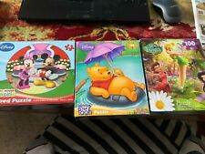 Disney Fairies, 100 Pc & 24 Pc Jigsaw Puzzles, Mickey Mouse and Winnie the Pooh