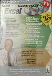 Video Professor Complete 3-CD Set Learn Word Tutorial PC Software Sealed NEW!