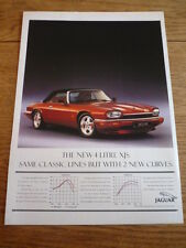 JAGUAR XJS 4.0  ORIGINAL ADVERT, PERFORMANCE CAR 1994
