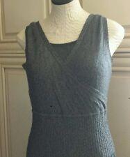 Nic + Zoe Women's Size Medium Black/Gray ribbed texture Knit black/gray Dress