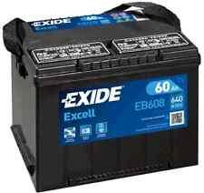 EB608 3 Year Warranty Exide Battery 60AH 640CCA WG75SE Type G75