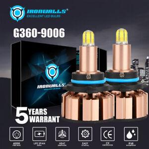 6 Side 9006 HB4 LED Headlight Bulb Kit Low Beam 6000K 2000W 300000LM White Light