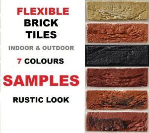 BRICK SLIPS CLADDING WALL TILES FLEXIBLE ( Pack of 7 )  SAMPLES ONLY