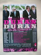 "DURAN DURAN Live ""All you need is Now"" 2011 UK Arena Tour VERY RARE Promo flyer."