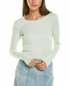 Michael Stars Crewneck T-Shirt Women's Green Os