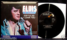 ELVIS PRESLEY-Softly, As I Leave You-Picture Sleeve & 45-RCA #PB-11212