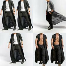Men Baggy New Casual Long Cloak Cardigan Coat Loose Cape Full Length Adult Tops