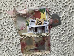 Junk Journal Embellishment * Loaded Pocket -Tag & Ephemera Vintage Shabby Style