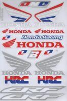 1x Decals Wings Honda Logo Racing Stickers Sheet Emblem Motorcycle Racing S49