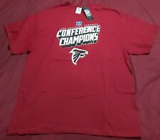 Atlanta Falcons Nfl Football 2016 Conference Champions Logo 2Xl Red T-shirt New