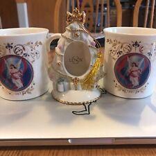 2 Lenox Christmas Mugs & Tree Ornament