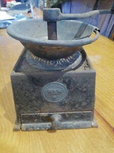 A Kenrick & Sons Vintage Metal Coffee Grinder