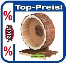TRIXIE 61035 Nager Laufrad Holzlaufrad Hamsterrolle Natural Living 20 cm Holz