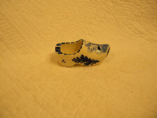 "Delfts Blue Dutch Pottery Miniature Shoe/ Ashtray Hand Painted Holland 3"" Single"