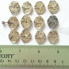 12 Small Watch Movements Parts Steampunk Gear Wheel Altered Art Old Vintage Rust