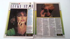 MADONNA Lucky Star (part 3) 2 pages 1985 UK ARTICLE / clipping
