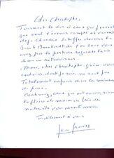 LETTRE AUTOGRAPHE SIGNEE par le philosophe Jean GRANIER