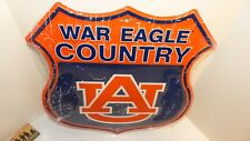"""AUBURN """"WAR EAGLE COUNTRY"""" FACTORY DISTRESSED 12"""" ROAD SIGN STYLE METAL SIGN"""