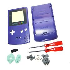 Game Boy Gameboy Color GBC Purple Shell Case Housing w Screen & Tools UK