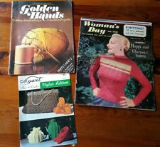 Vintage Knitting and Crochet Patterns Myart Womans Day 1953 Golden Hands 3 Mags