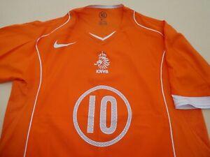 NETHERLANDS HOLLAND 2004 NIKE FOOTBALL SOCCER SHIRT JERSEY LARGE VAN NISTELROOY