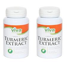 Turmeric Extract 500mg 95% Standardized Curcuminoids 60 Caps 2 Bottles!