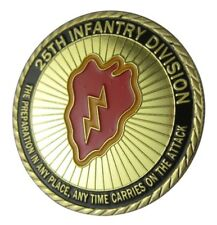 U.S. United States Army   25th Infantry Division   Gold Plated Challenge Coin