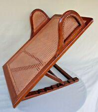 Antique John Carter Literary Machine Wood & Cane Bed Reading Backrest Recliner