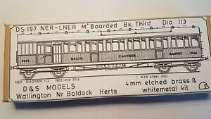 D&S Models NER/LNER matchboard brake third etch brass coach kit