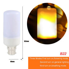 5Pc B22 LED Flame Light Bulb Simulated Burn Fire Effect Party Decor Flicker Lamp