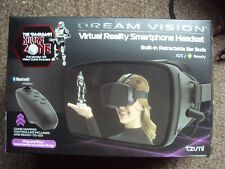 DREAMVISION VIRTUAL REALITY SMARTPHONE HEADSET BUILT IN EAR BUDS IOS ANDROID