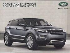 Range Rover Evoque Style Lifestyle Special Model Brochure Car Sales Brochure 2014