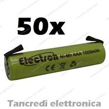 50x 1,2 v 1000 mAh ministilo AAA terminali lamelle a saldare uso generico 900mAh