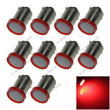 10X Red BA9S 57 W6W 1 COB LED License Plate Light Map Bulb Dome Lamp 12v 20059